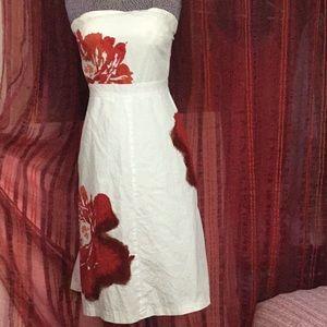 J Crew 100% Cotton Strapless Dress